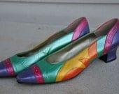 Margaret J Bright patch work shoes sz 7.5