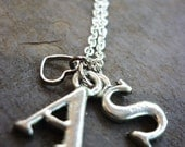 Double Initial w/Heart necklace