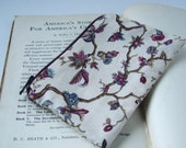 Exotic Floral Branches Coin Purse made with Upcycled Cotton Fabric