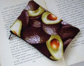 Avocado Print Coin Purse made with Upcycled Fabric
