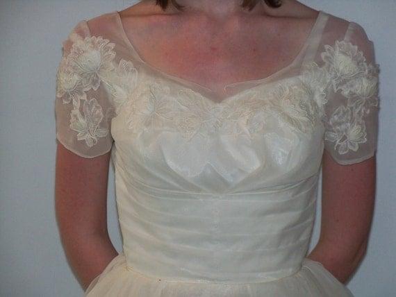 Vintage 1950s Wedding Dress Full Length
