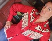 Vintage Calamity Jane Red Pinup girl shirt