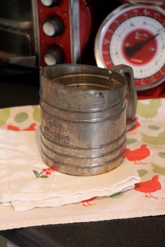 Beautiful Vintage Metal Flour Sifter