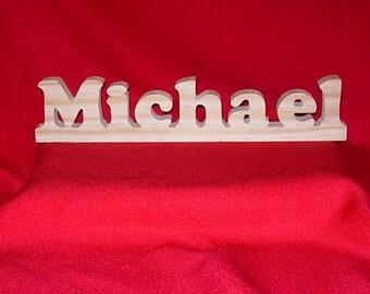Custom Made Unfinished Wood  Sign