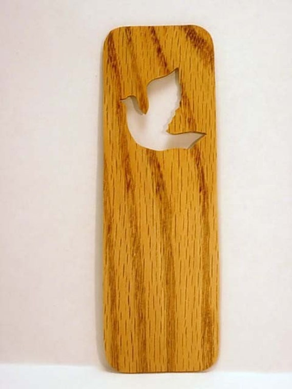 Thin Solid Oak Dove Bookmark