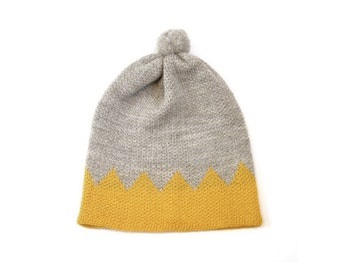 CROWN HAT (Oatmeal and Yellow)
