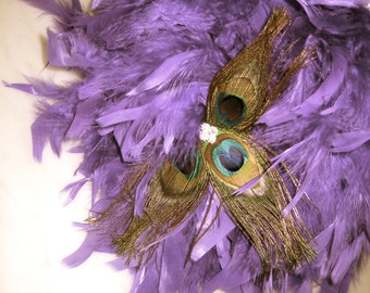 Custom Colored Peacock Feather Pomander