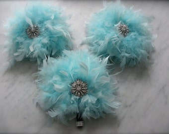 12 piece Tiffany Blue Feather Bridal Package