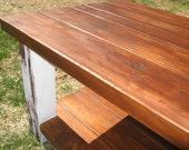 TINA- Custom Farm Table, and Bench