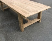 Xan -- Custom Farmhouse Table 3'x8' Reclaimed Oak (Handmade)