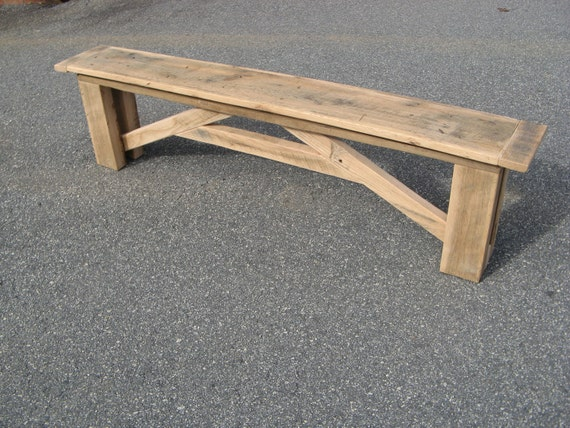 Yandolino- Custom Reclaimed Pine Table and Bench