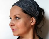 Yoga Headband - Organic Cotton Free to Grow in Gray - Nancy Mimis (Robert Kaufman) - fabric