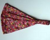 Headband - Japanese Rose Cotton Fabric with Kimono Print
