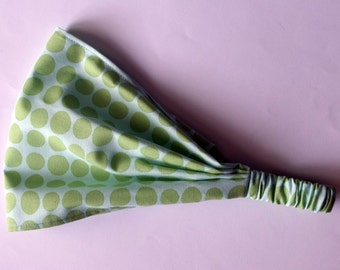 Headband - Amy Butler Sunspots in Mint fabric