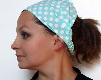 Ocean Ta Dot Headband- Michael Miller fabric