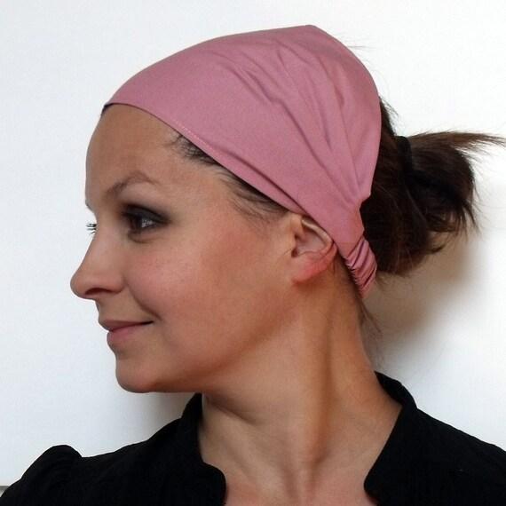 Headband - Solid Rose Kona Cotton fabric by Robert Kaufman.