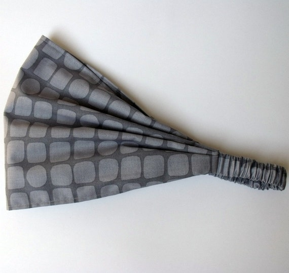 Yoga Headband - Snakeskin in Gray - Michael Miller fabric