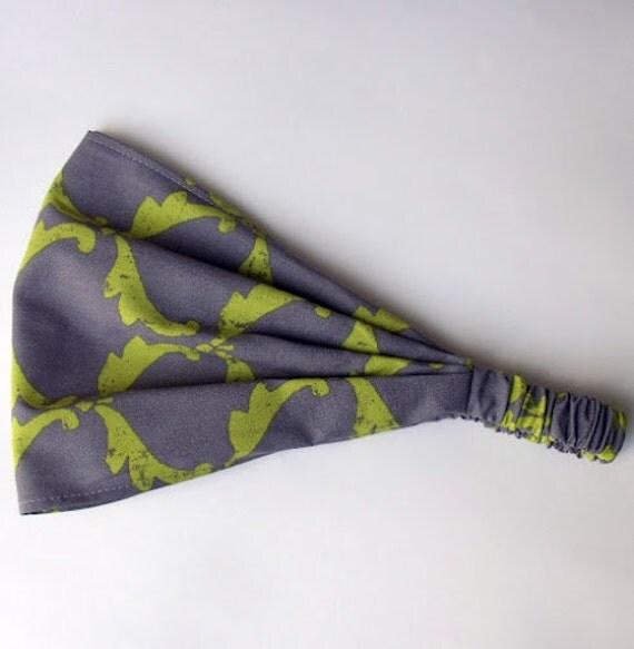Yoga Headband - Ty Pennington Cotton Fabric for Free Spirit - Angel Wings Gray