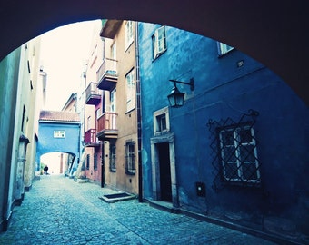 Vintage Blue ||| Eastern Europe Art | Architecture Decor | Travel Photography | Urban Wall Decor