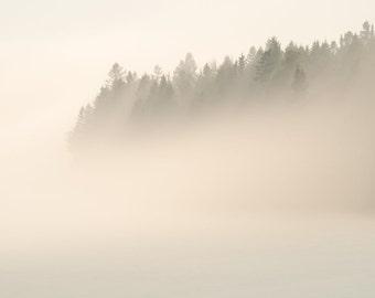 Lake Superior 01 ||| Minimalist Landscape Photograph | Nature Photography | Fog | Rustic Modern | North Shore Photography