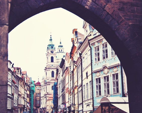 Prague Arch ||| Travel Photography | Czech Republic | City View | Urban Wall Decor | Pastel