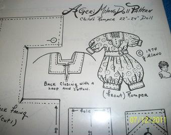 Geri Milano Pattern 22 to 24  in.  Childs Romper