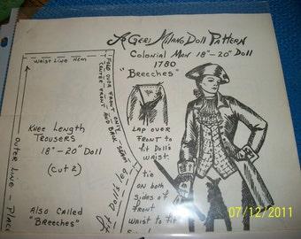 Geri Milano Pattern  George Washington  18 to 20 in Doll
