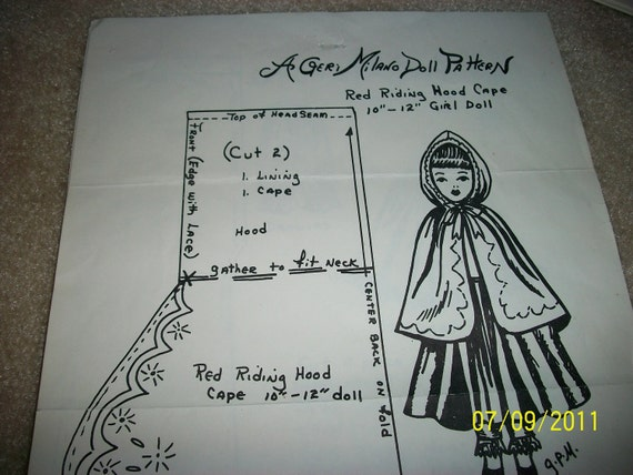 Hooded Dress Pattern Hood Doll Dress Pattern