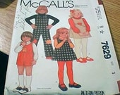 McCall's 7629 Jumper, Jumpsuit Toddler Child Size 3