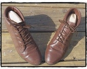 Vintage 90s Brown Grunge Ankle Boots 7