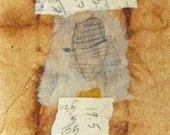 Abstract Collage With Ephemera on Teabag  / Daily Drawing, October 24, 2011