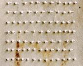 Timeless Words / White Pearls on  Teabag