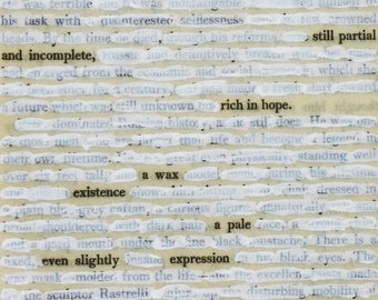 Altered Book Page / Found Text Poem on Book Page / This, This