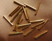 Bead, Gold-Plated, Brass, 13x1 Point 5mm, Tube, Pkg Of 24