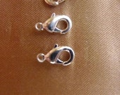 SALE!! Clasp, Lobster Claw, Silver-Plated, Pewter, zinc-based alloy, 10x6mm, Pkg Of 6 SALE!!