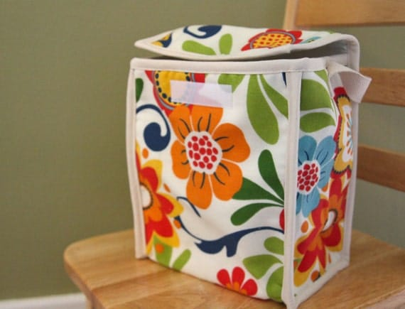 Insulated Lunch Bag - Tropical Flowers