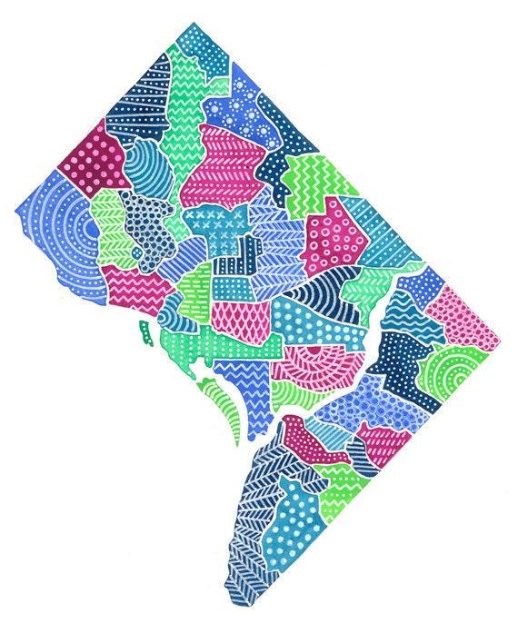 Washington, D.C. Map Illustration