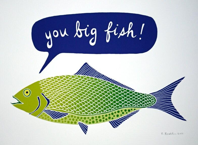 You big fish giclee print for Big fish printing