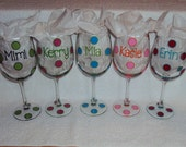 Set of 5 - Personalized Wine Glasses