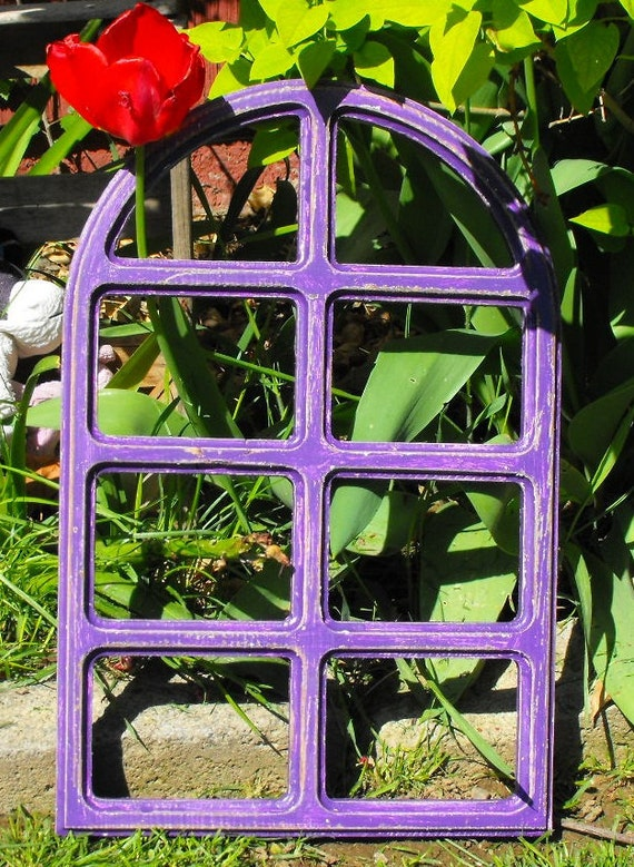 Purple Window Frame