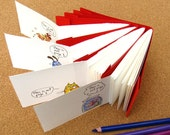 FUN set of 4 journals \/ sketchbooks with animals