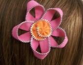 Pink and Orange Zipper Flower