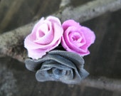 Rose Bouquet Ring - Polymer Clay