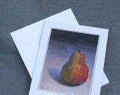 "Greeting Card,  ""Pear"", blank inside"