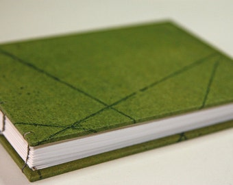 coptic book green