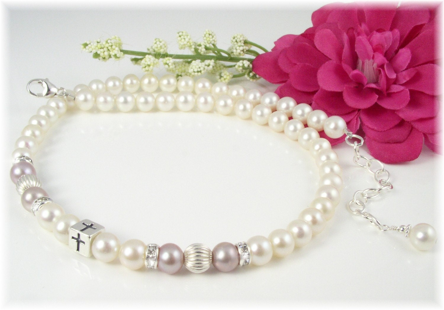 Baby Girl Baptism Christening Necklace Freshwater Pearls