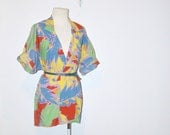 80s bright watercolor slouchy jacket blazer . at montanasnowvintage