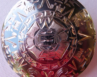 Vintage Mexican AZTEC sterling pendant brooch SALE WAS 102.00