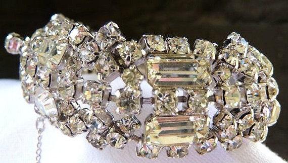 Reserved  Vintage signed KRAMER of NY 1950s rhinestone bracelet Reserved