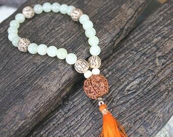 27 Beads Yoga Mala Bracelet New Jade And Salwag Seeds